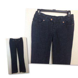 BEBE Womens 28 Low Rise Bootcut Dark Wash Jeans
